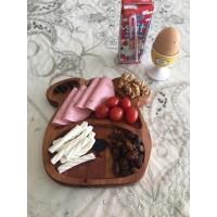 Ahşap Kahvaltı Tabağı Ayıcık