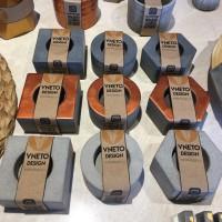 Beton Tealightlık Tekli Yuvarlak Bakır Renkli