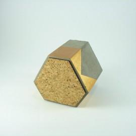 Elmas Model Beton Saksı Altın Sarısı